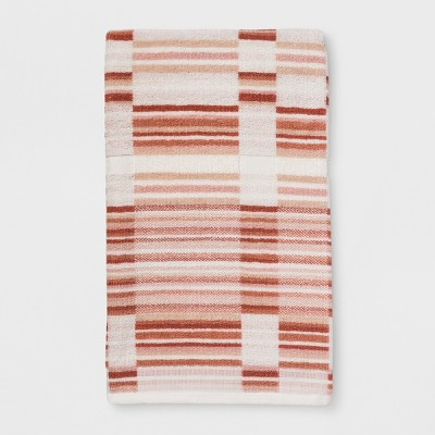 Mesa Linear Quilt Plaid Bath Towel Sour Cream - Project 62™