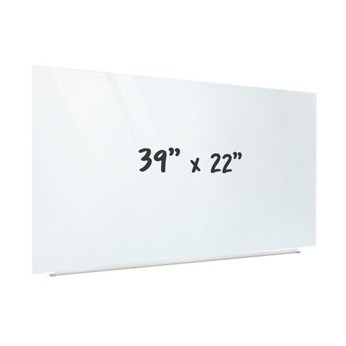 ECR4Kids Frameless Glass Whiteboard - 16:9 Wall Mounted Magnetic Dry Erase Projector Screen w/ Pen Tray - image 1 of 4