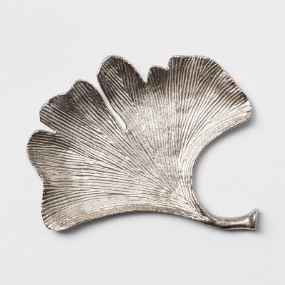 Decorative Leaf Figurine - Silver - Threshold™