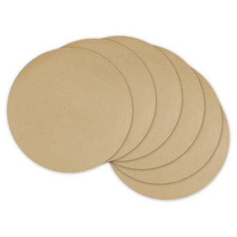 6pk Beige Placemat - Design Imports - image 1 of 1