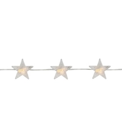 Northlight 20ct Star LED Micro Fairy Christmas Lights Warm White - 6' Copper Wire