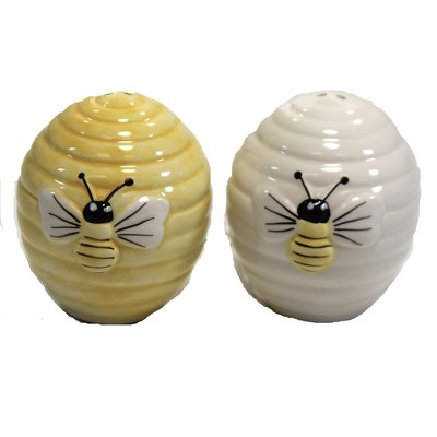"Tabletop 2.5"" Beehive Salt & Pepper Set Bee Colony Honeycomb Transpac  -  Salt And Pepper Shaker Sets"