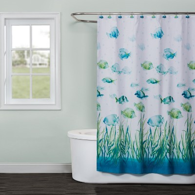Atlantis Shower Curtain Multi - Colored - Saturday Knight Ltd.
