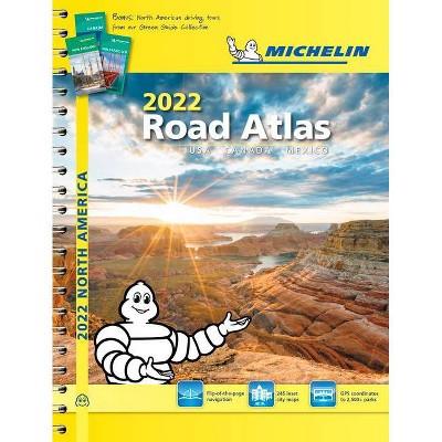 Michelin North America Road Atlas 2022 USA - Canada - Mexico - 20th Edition (Spiral Bound)