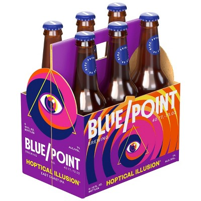 Blue Point Hoptical Illusion IPA Beer - 6pk/12 fl oz Cans