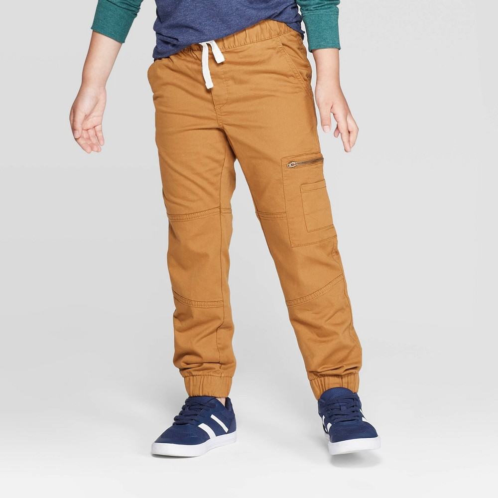 Boys' Jogger Pants - Cat & Jack Brown 8