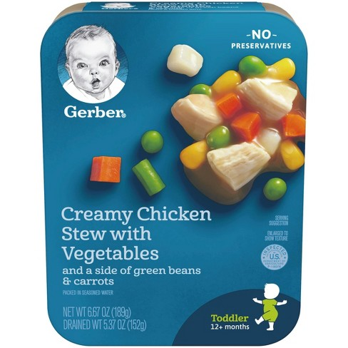 Gerber Lil' Entrees, Creamy Chicken Stew with Vegetables with Green Beans & Carrots - 6.67oz - image 1 of 4