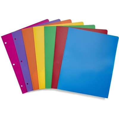 Staples Poly 2-Pocket school Folder Assorted Colors (52819) 55095