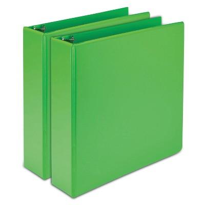 """2pk 450 Sheet 2"""" Round Ring Binder Lime - Samsill"""