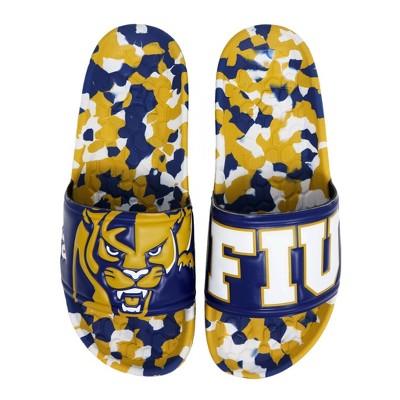 NCAA FIU Golden Panthers Embossed Slide Sandals Women's