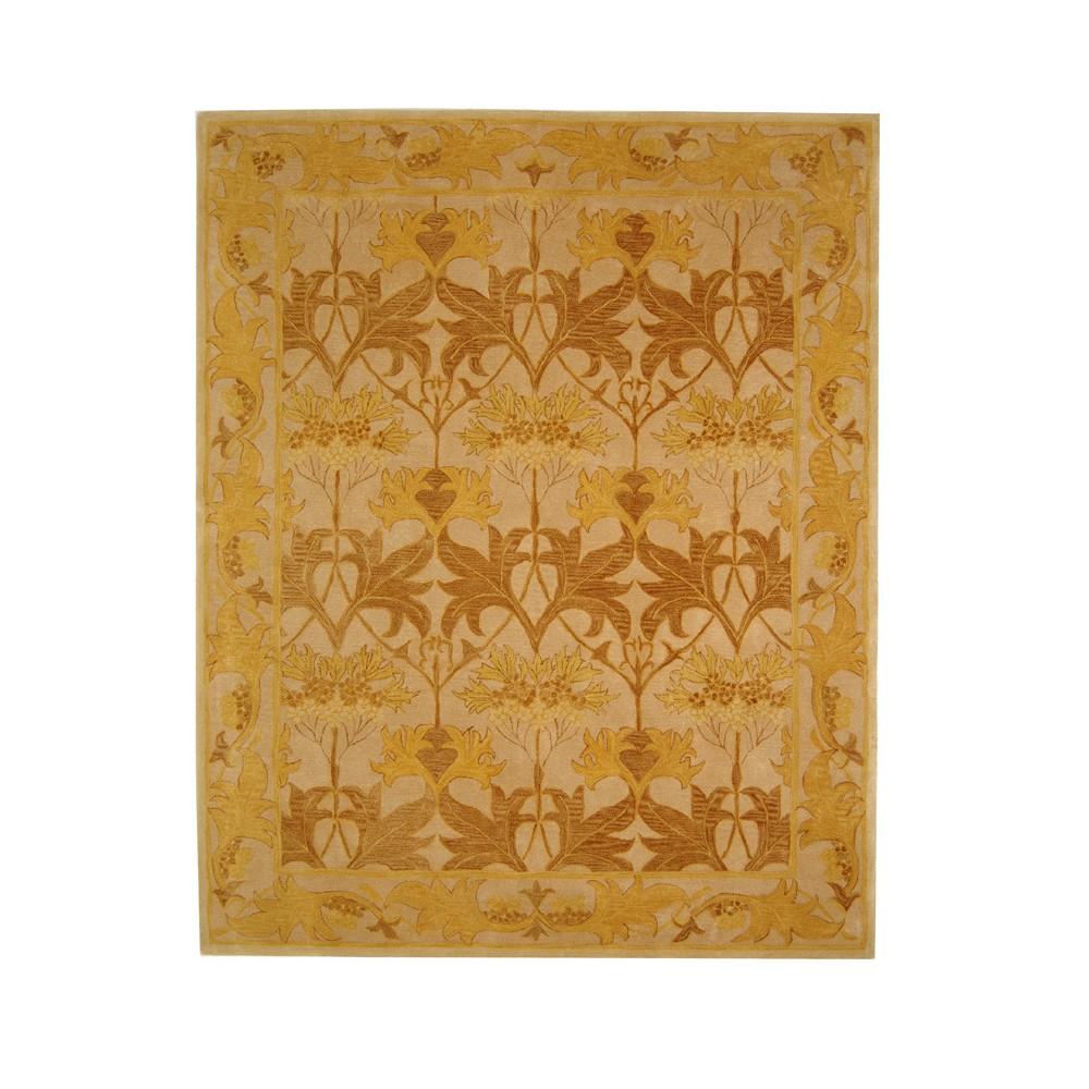 Beige/Gold Leaf Tufted Area Rug 6'X9' - Safavieh, Beigengold