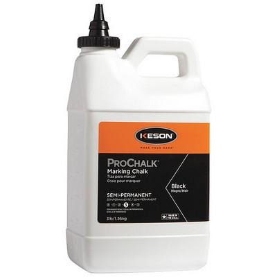 KESON 103BLACK Marking Chalk,Standard,Black,3 lb.