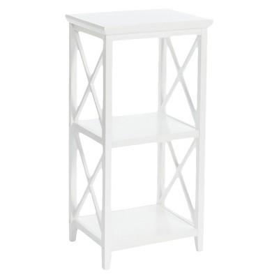 X-Frame Collection 3- Shelf Storage Tower White - RiverRidge