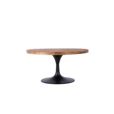 "36"" Lenora Round Pedestal Coffee Table Brown/Black - Summerland Home"