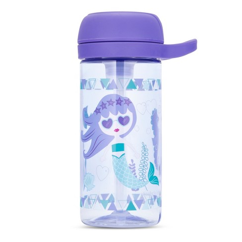 Cheeky Plastic Kids Bottle With Straw 17oz Mermaid - Purple - image 1 of 2