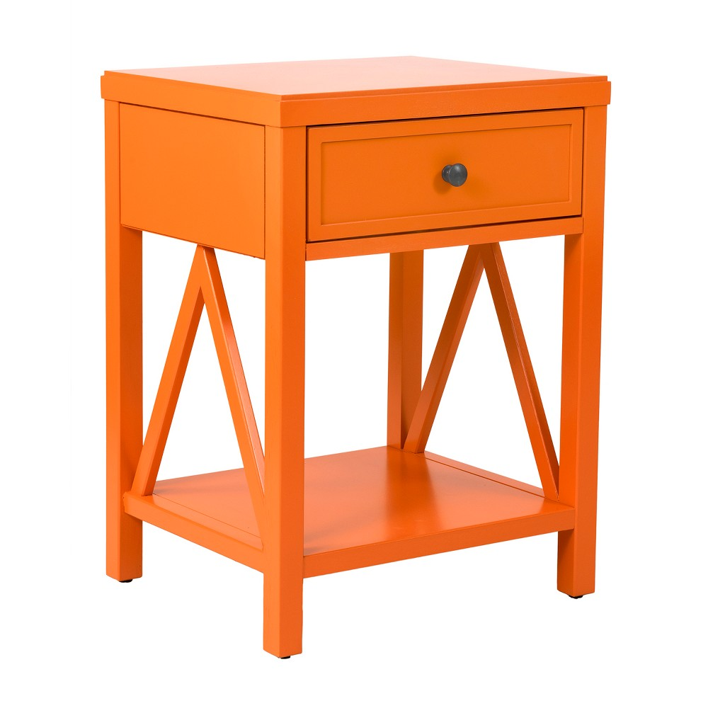 Wilco Acacia Accent Table Orange - East At Main