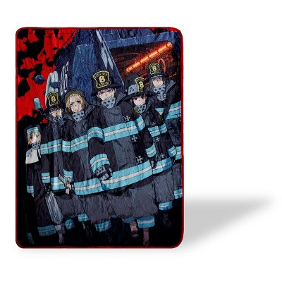 Just Funky Fire Force Anime Series Fleece Throw Blanket   Anime Blanket   60 x 45 Inches