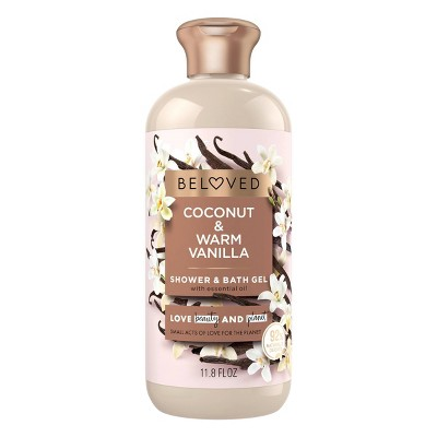Beloved Coconut & Warm Vanilla Shower & Bath Gel Body Wash - 12 fl oz