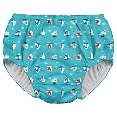 Baby Boys' Reusable Swim Diaper - Aqua 6M - i play.®
