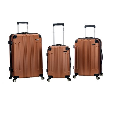 Rockland Sonic 3pc ABS Upright Luggage Set - Brown