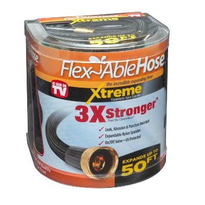 As Seen on TV 50' Flexible Extreme Garden Hose Black