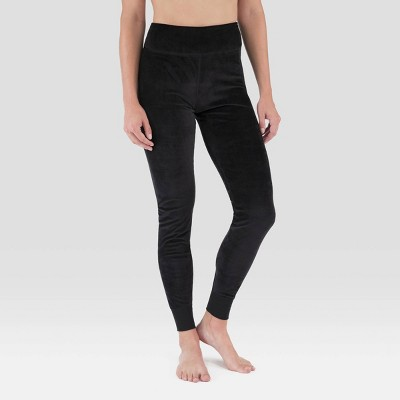Wander by Hottotties Women's Velour Thermal Leggings - Black