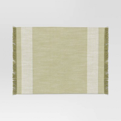 Cotton Striped Placemat Green - Threshold™
