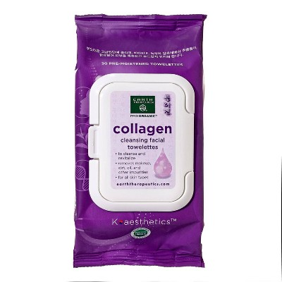 Earth Therapeutics Makeup Remover Wipes - Collagen - 30ct