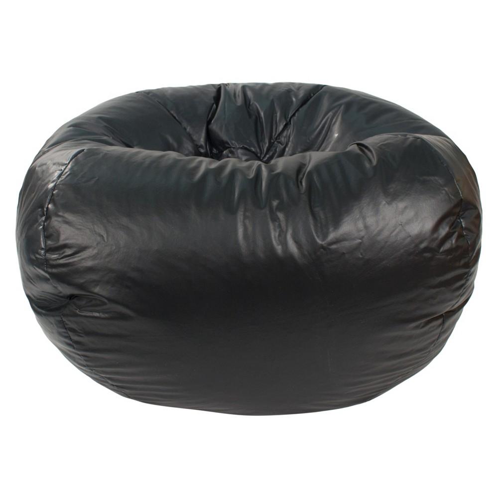 Medium Vinyl Bean Bag Chair - Black - Gold Medal