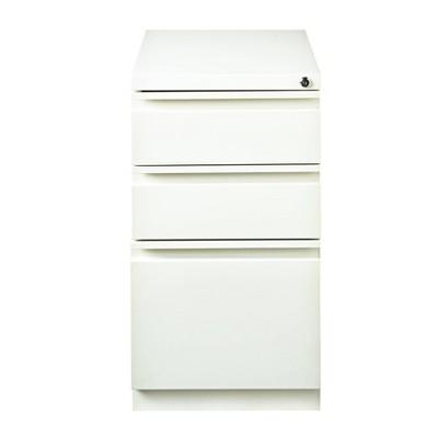 Mobile Pedestal File Box White - Hirsh