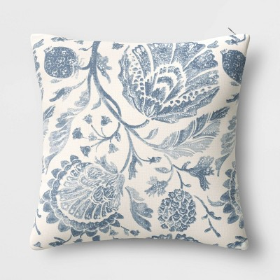 Square Floral Printed Jacobean Throw Pillow - Threshold™