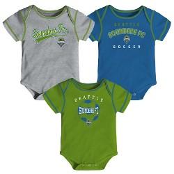 MLS Baby 3pk Onesies Seattle Sounders