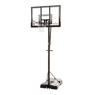 "Spalding NBA 48"" Polycarbonate Quick Glide Portable Basketball Hoop"