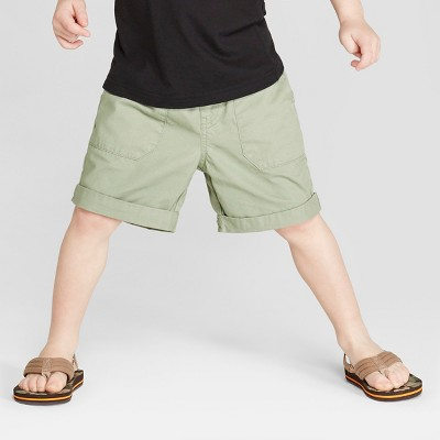 Toddler Boys' Twill Pull-On Shorts - Cat & Jack™ Sage 3T