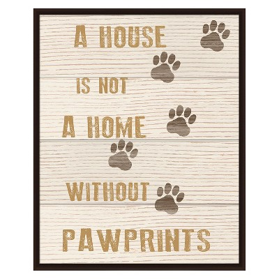 Pawprints Reclaimed Wood Wall Art
