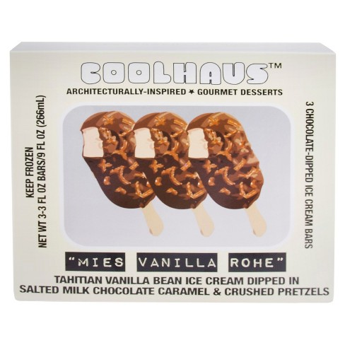 Coolhaus Mies Vanilla Rohe Ice Cream Bars - 3ct - image 1 of 2