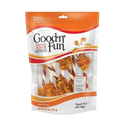 Good 'n' Fun Double Meat Pops Rawhide Dog Treats - 5.5oz