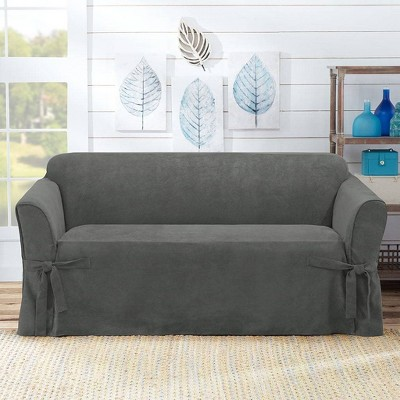 Suede Twill Loveseat Slipcover - Sure Fit