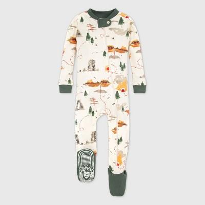 Burt's Bees Baby® Baby Girls' Organic Cotton Sightseeing Footed Pajama - Pink/Green 18M