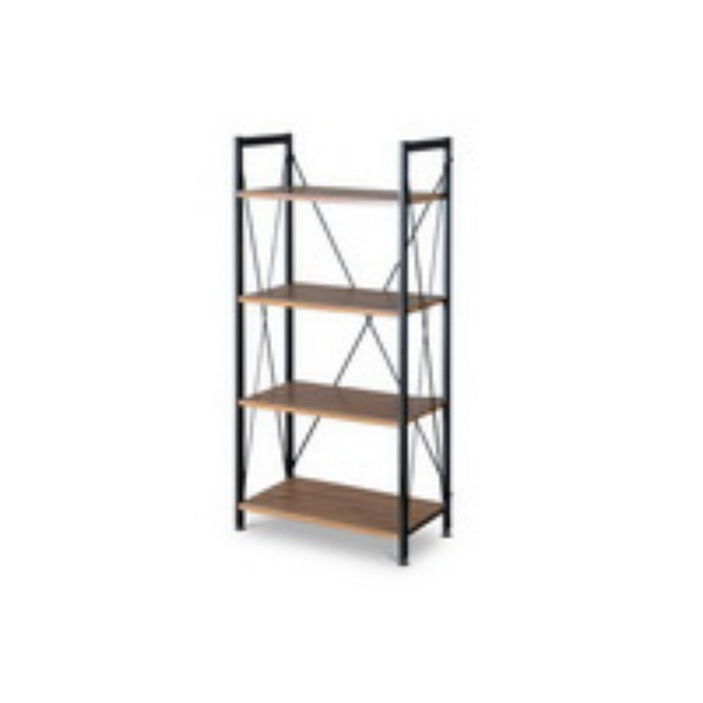 50.10 New Semester Bookshelf Brown/Black - Baxton Studio