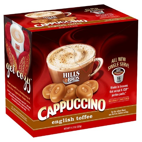 Hills Bros® English Toffee Cappuccino - Single Serve Pods - 16ct - image 1 of 1