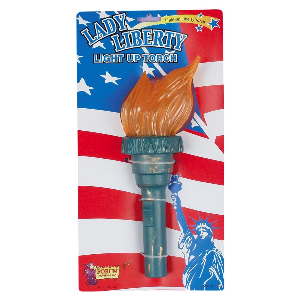 Halloween Adult Light Up Liberty Torch Green - One Size Fits Most, Adult Unisex