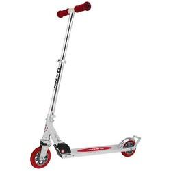 Razor A3 Folding Aluminum Kick Kids Scooter with Wheelie Bar (Red)