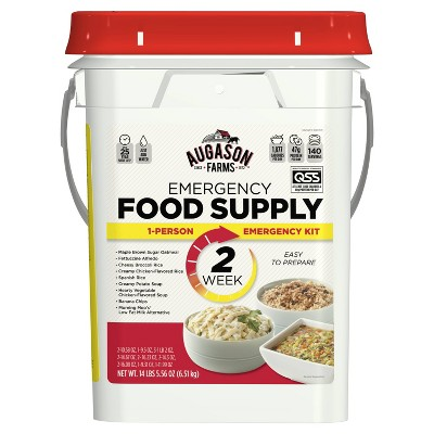 Augason Farms 2-Week 1-Person Emergency Food Supply Kit - 14lb Pail