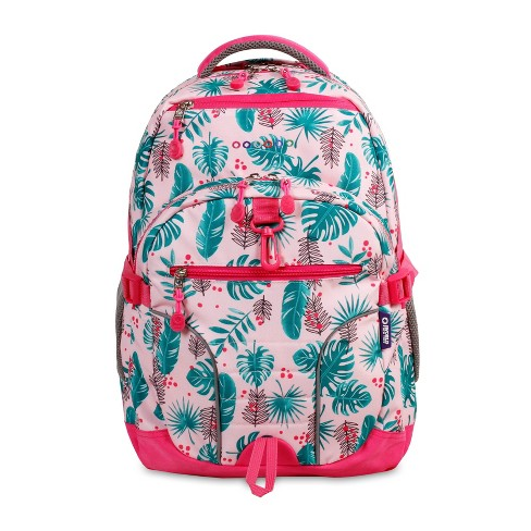 "JWorld 19.5"" Atom Multi-Compartment Laptop Backpack - Palm Leaves - image 1 of 4"