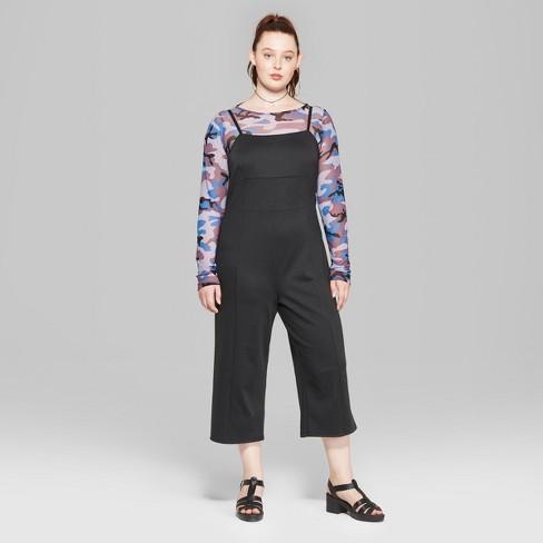 8c721d451c68 Women s Plus Size Strappy Knit Jumpsuit - Wild Fable™ Black   Target