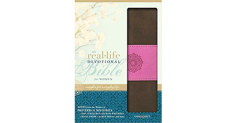 Real-Life Devotional Bible for Women : New International Version, Chocolate/Orchid, Italian Duo-Tone: - image 1 of 1