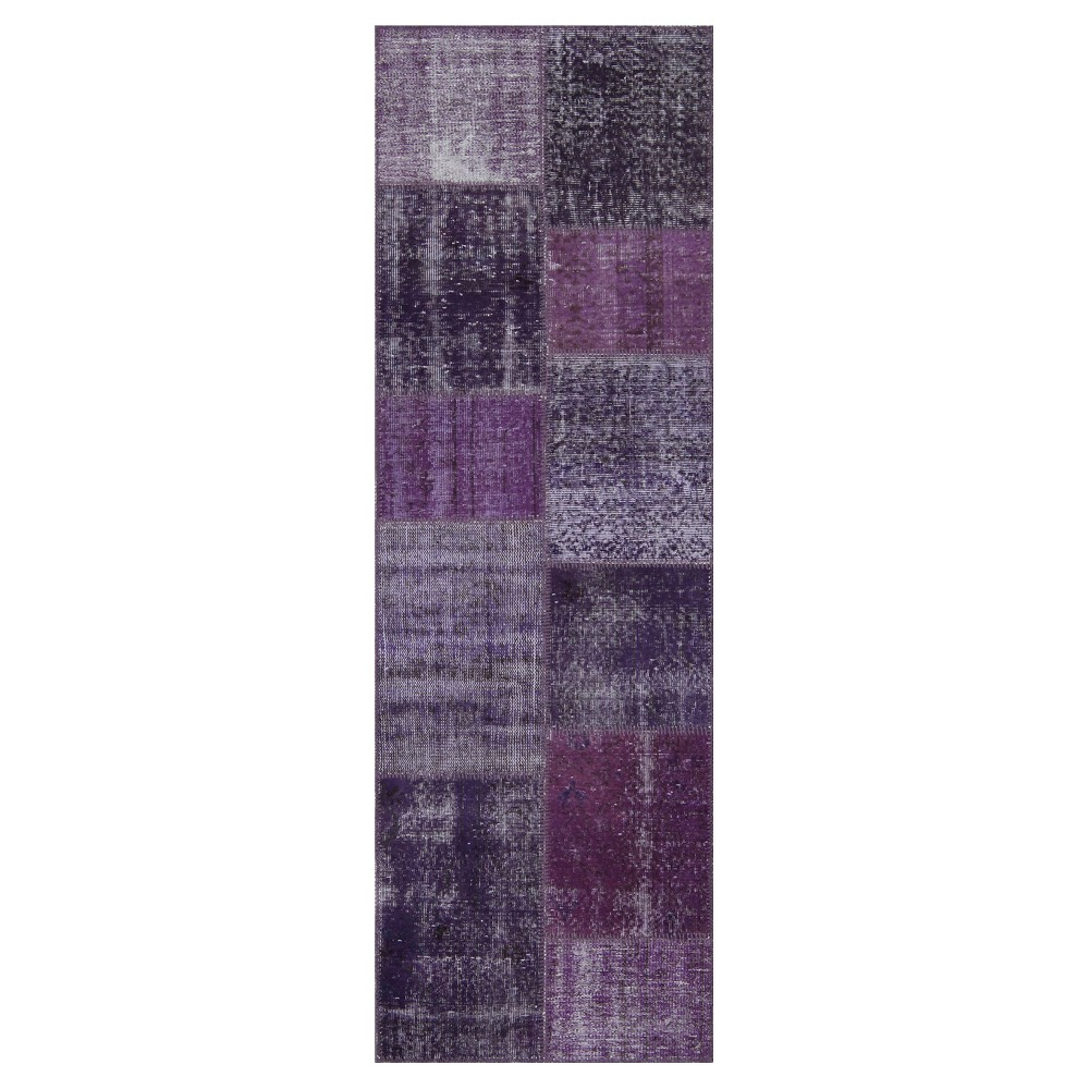 "Image of ""Antique Patchwork Runner Purple 2'7""""x8'2"""""""