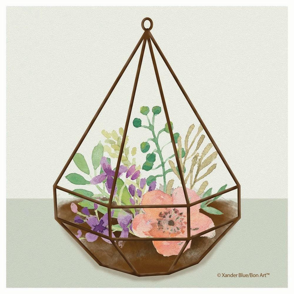 Image of 4pk Ceramic Terrarium Print Coasters - Thirstystone