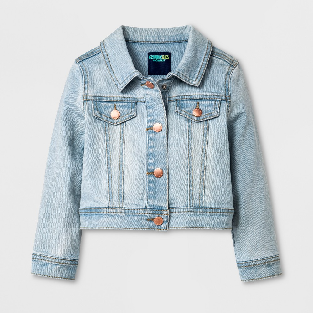 Toddler Girls' Genuine Kids from Oshkosh Jean Jacket - Light Wash 12M, Blue